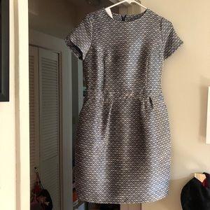 Dresses & Skirts - Embroidered blue sheath dress NEED GONE